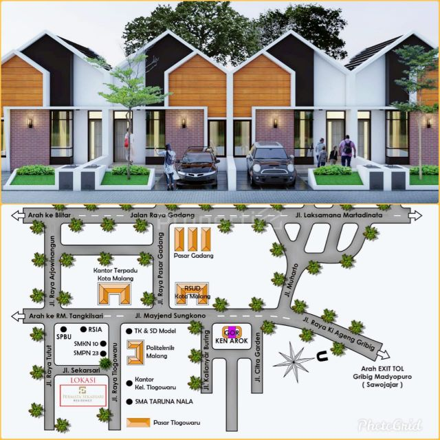 Cheap Modern Residential Housing in Permata Sekarsari Reside, Kota Malang