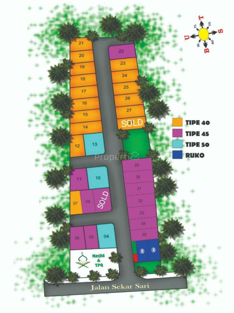 Cheap Modern Residential Housing in Permata Sekarsari Reside, Kedungkandang