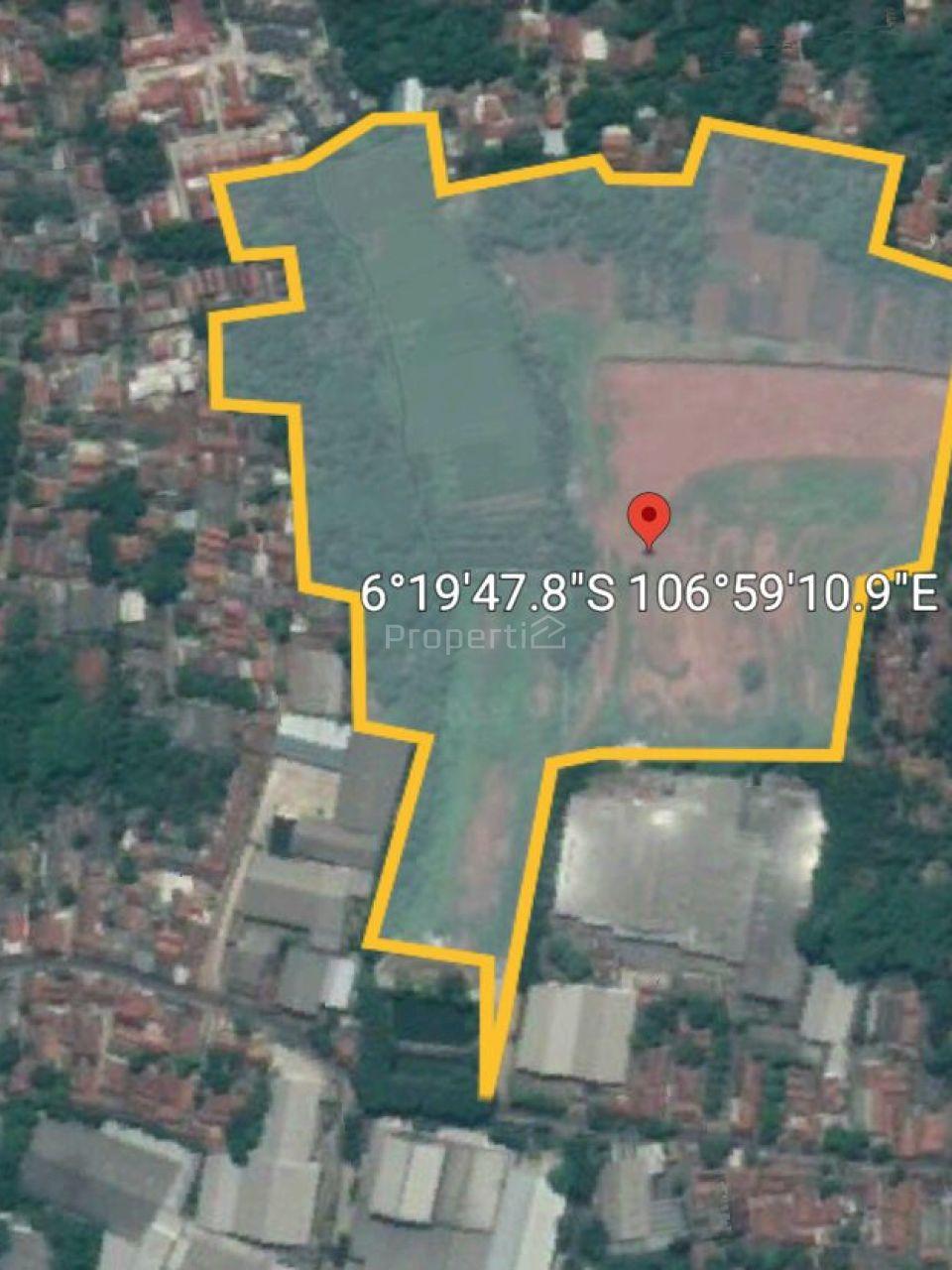 Land for Industrial in Bantar Gebang, Kota Bekasi