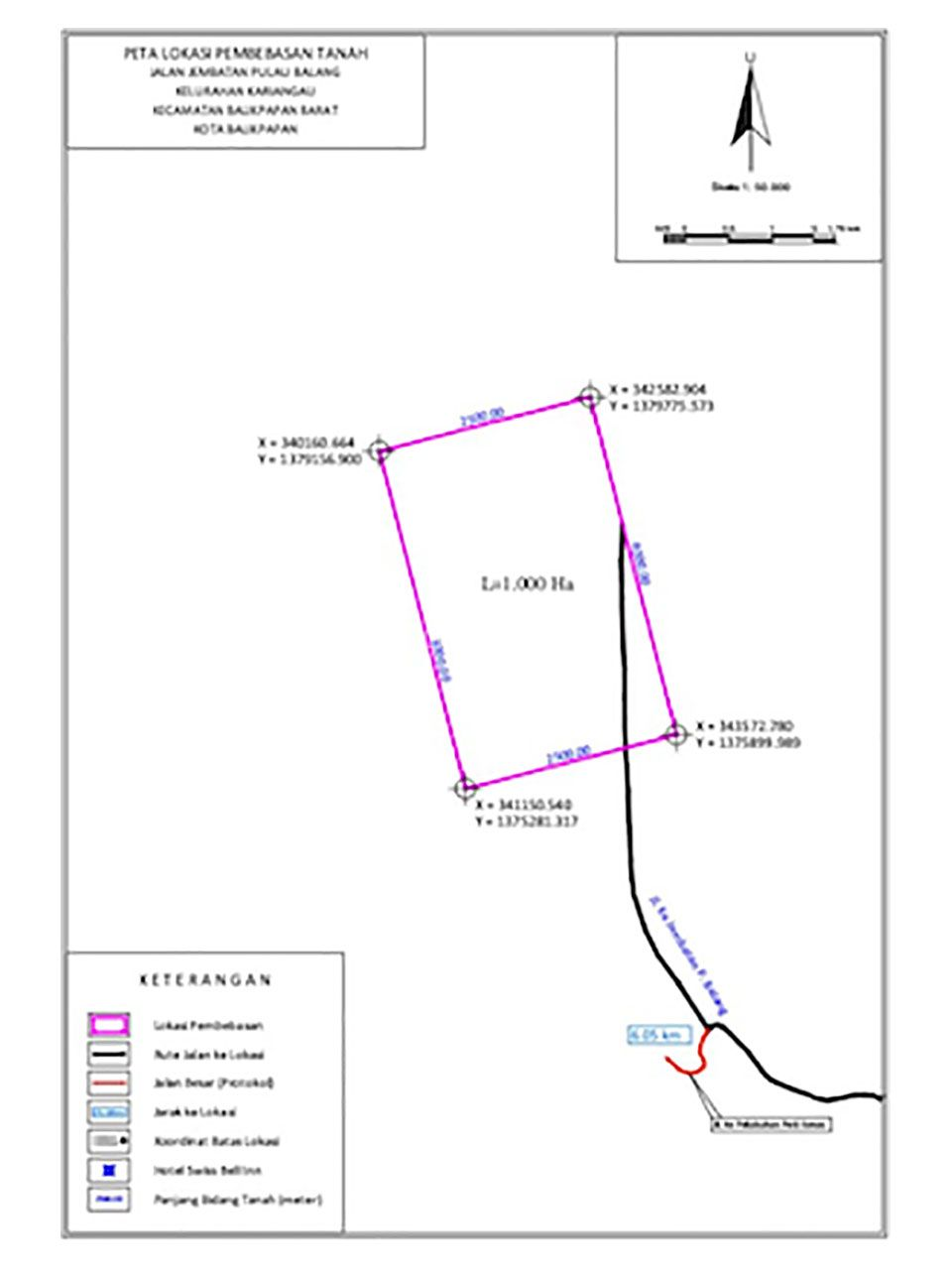 Land for Warehousing in Kariangau, West Balikpapan, Kota Balikpapan