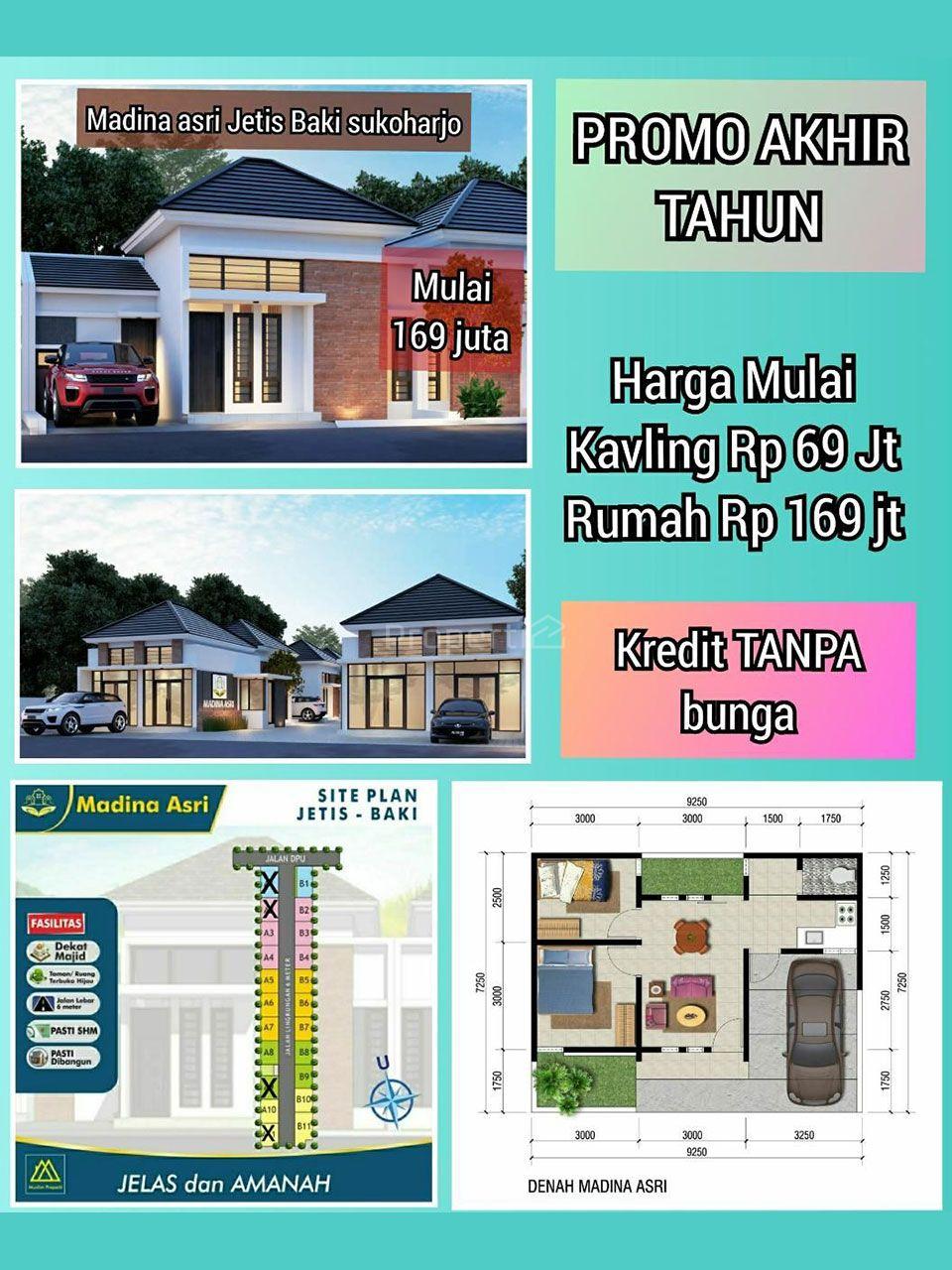 Rumah Siap Bangun di Madina Asri Jetis, Baki, Sukoharjo, Jawa Tengah