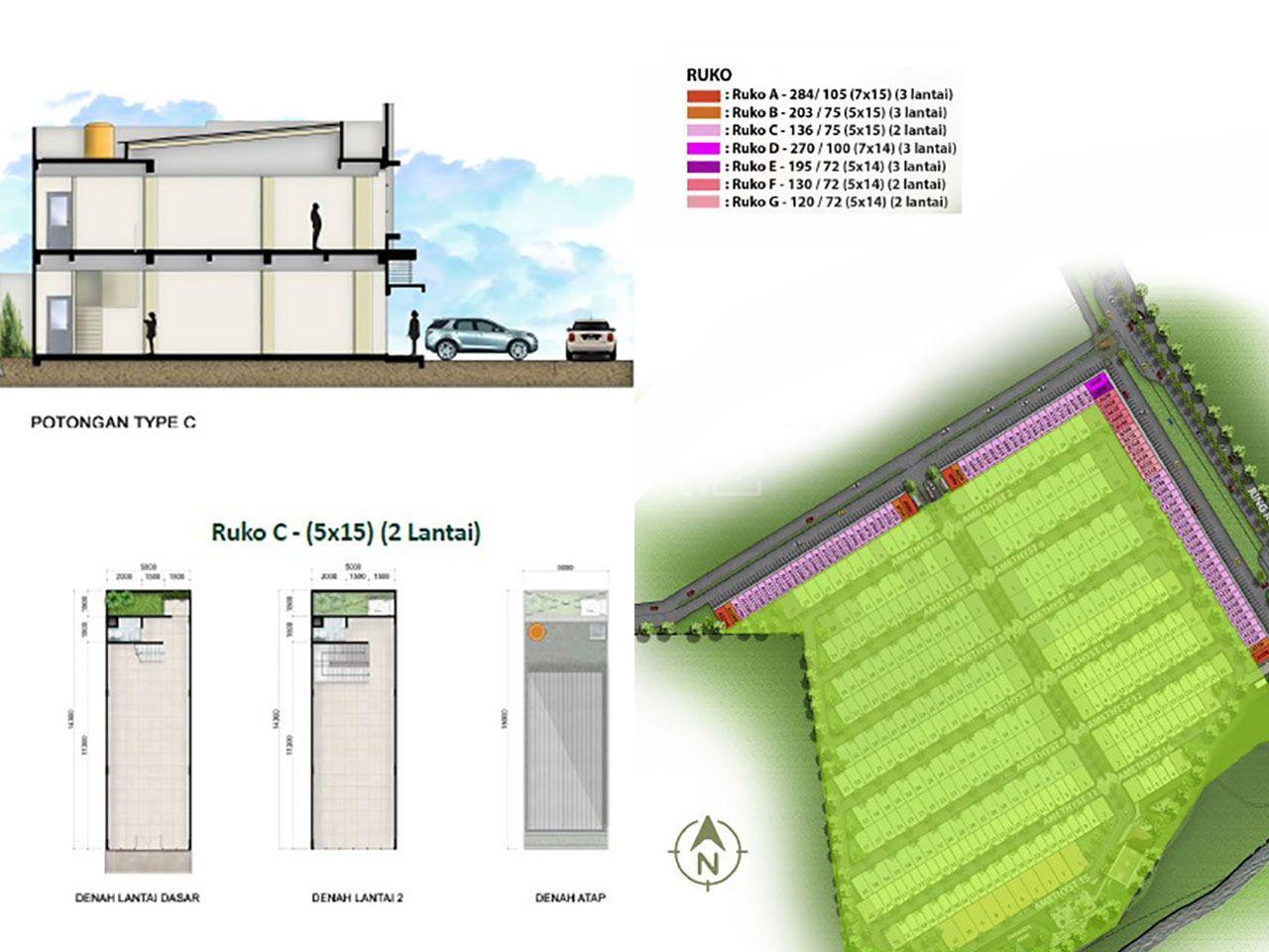 Ruko Tempat Usaha di Kawasan Emerald City Ring Road 2 Manado, Kota Manado