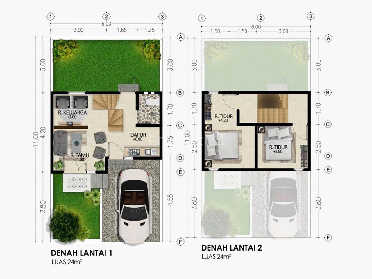 Rumah 2 Lantai dalam Hunian Syariah di Kota Malang, Kota Malang