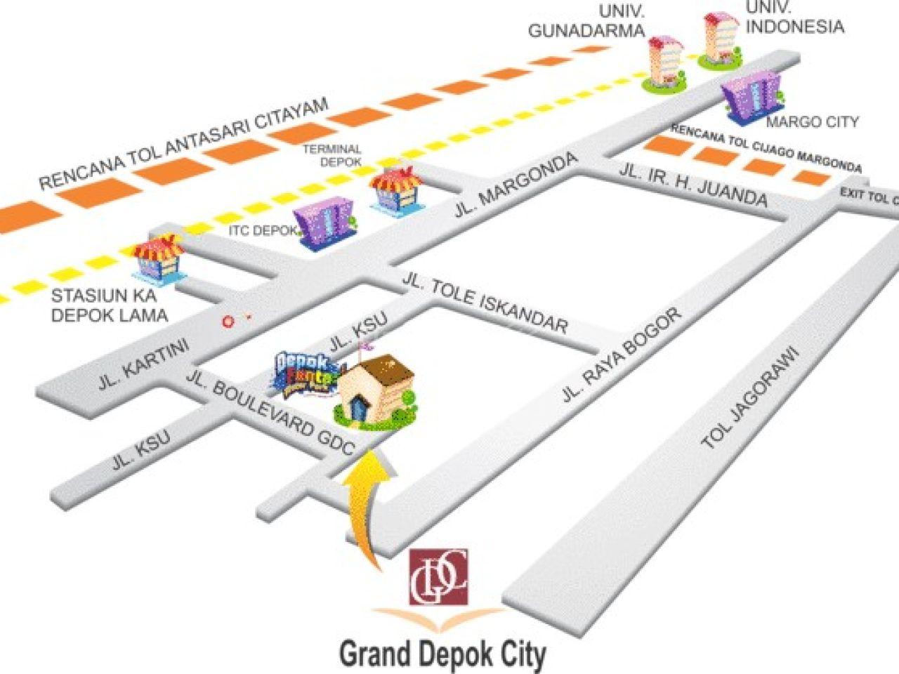 Rumah Cluster di Perumahan Grand Depok City, Kota Depok