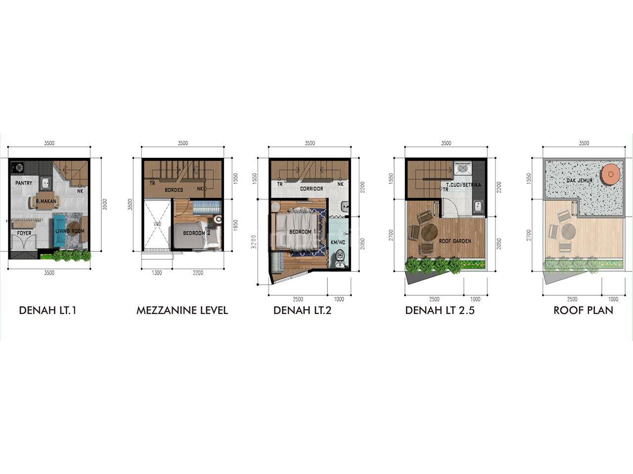 Rumah Cluster Serasa Apartemen di Lebak Bulus, Cilandak