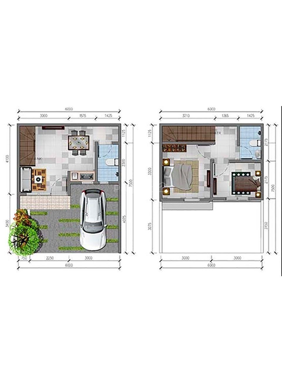 Rumah Minimalis Modern di Cluster River Garden Galuh Mas, Jawa Barat