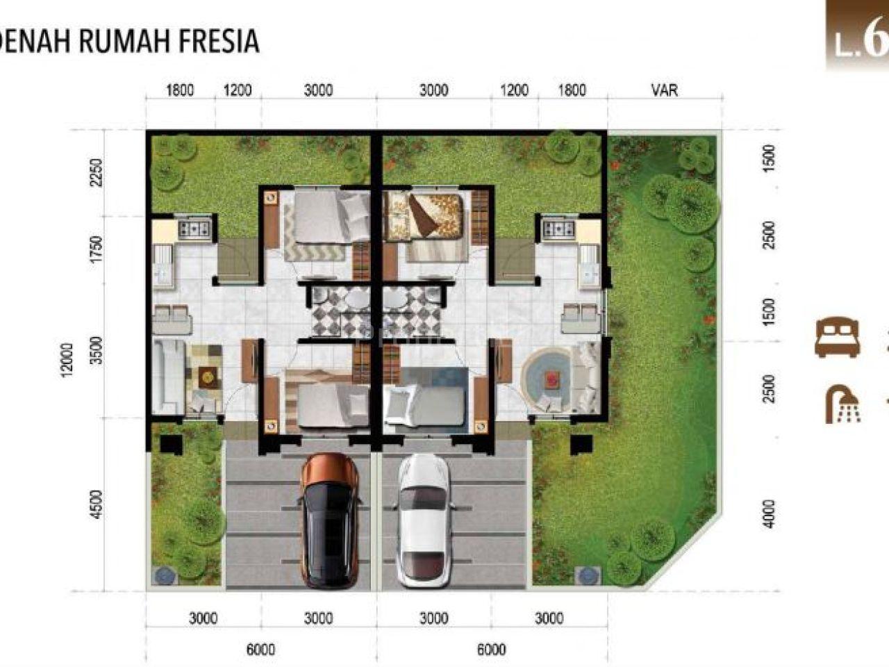 Fresia House in Certara Cluster, Lugano Lake Park, Banten