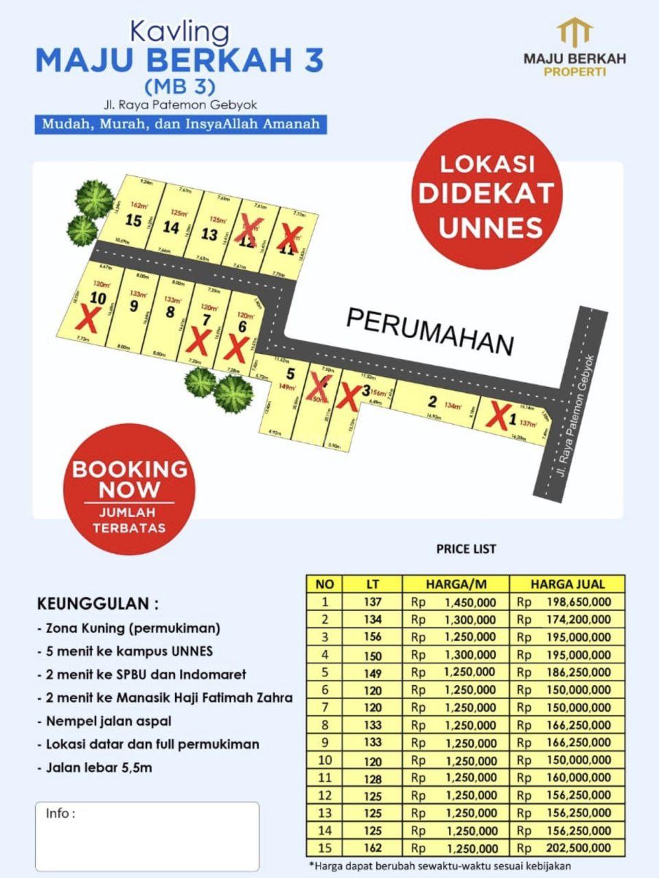 Plot Land in Gebyok, Gunungpati, Semarang, Kota Semarang