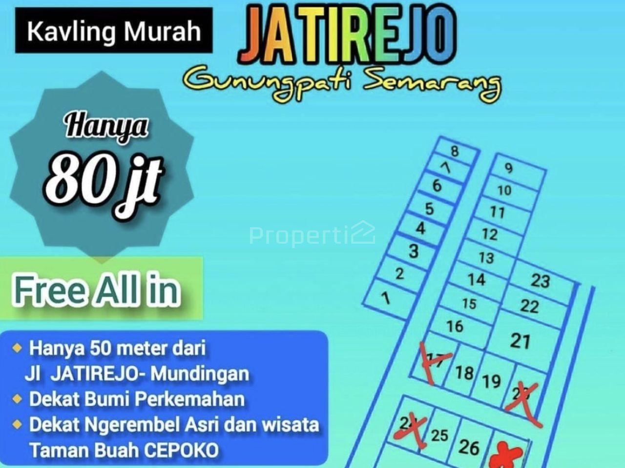 Tanah Kavling di Jatirejo, Kota Semarang, Gunungpati