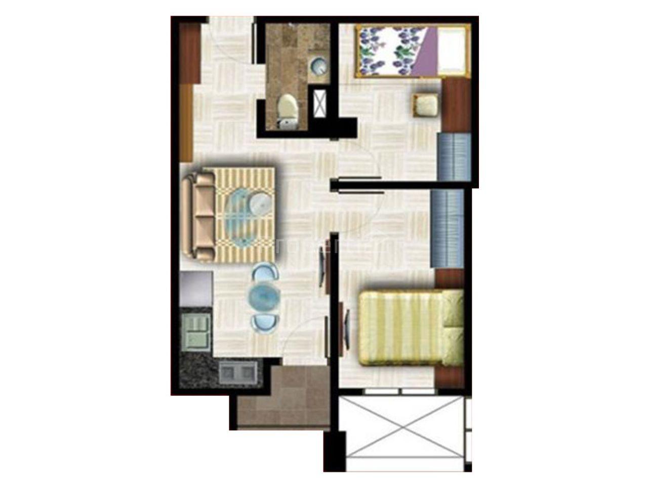 Unit Apartemen 2BR di Apartemen District 9 Medan, Kota Medan