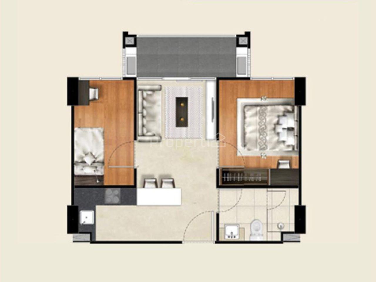 2BR Apartment Unit at Landmark Residence, 3th Floor, Cicendo