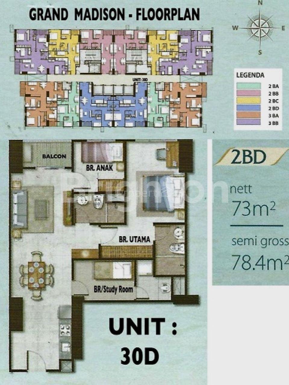 Unit Apartemen Baru di Apartemen Madison Park, Jakarta Barat, DKI Jakarta