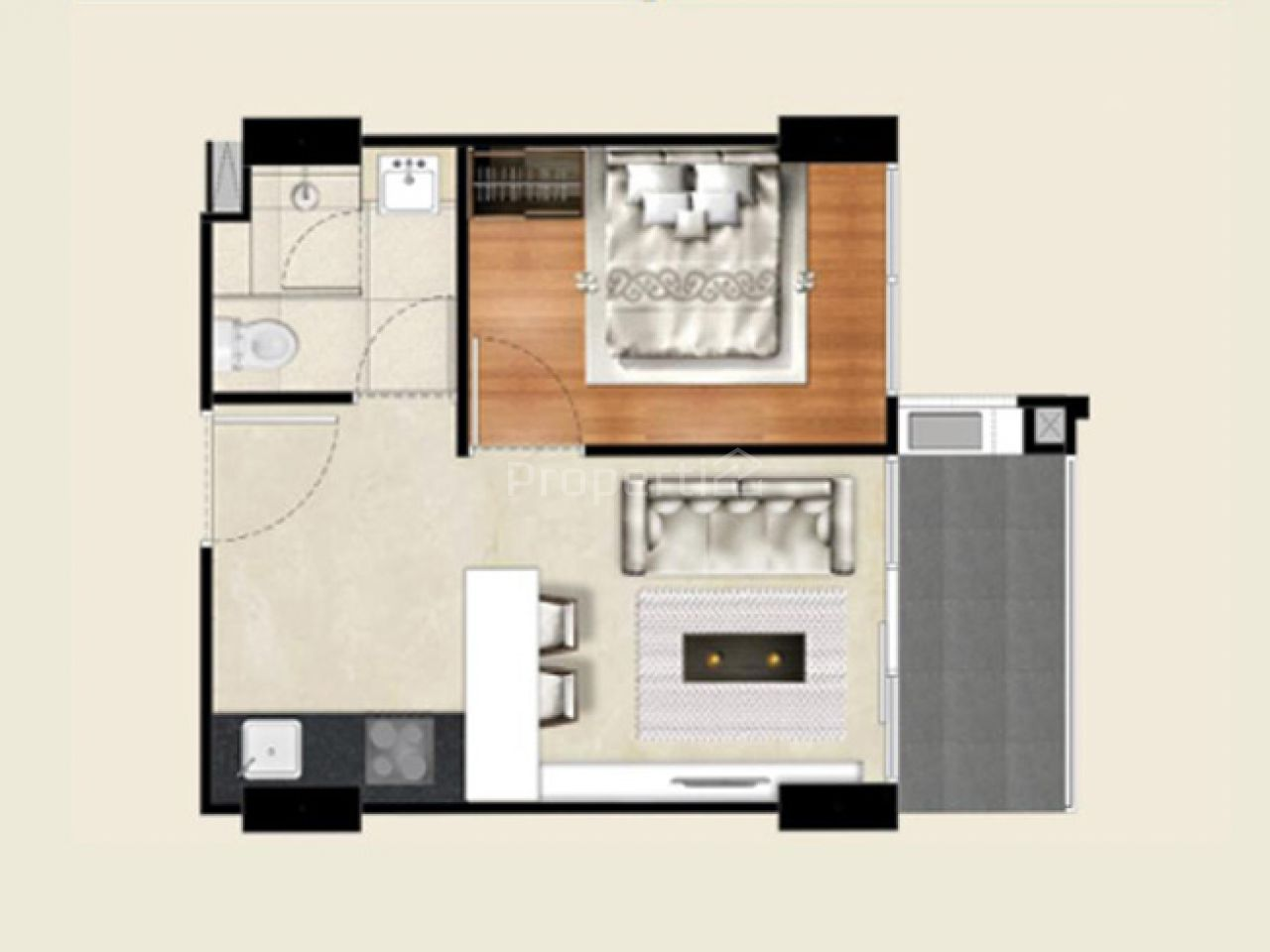 New Apartment Unit at Landmark Residence, 15th Floor, Kota Bandung